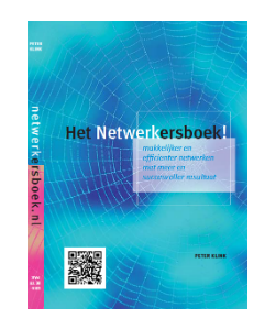 omslag blauw van Het Netwerkersboek!